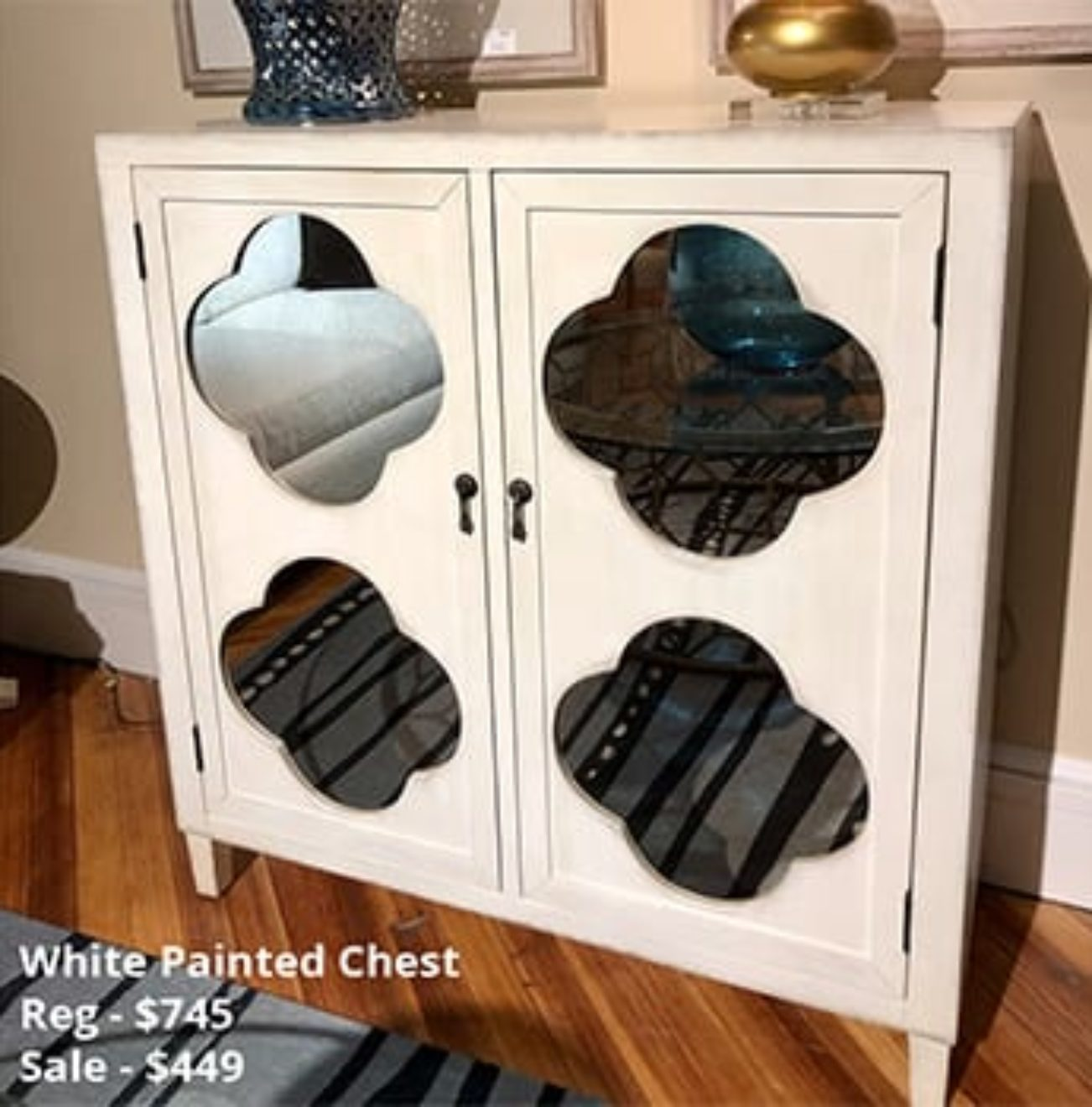 White Painted Chest