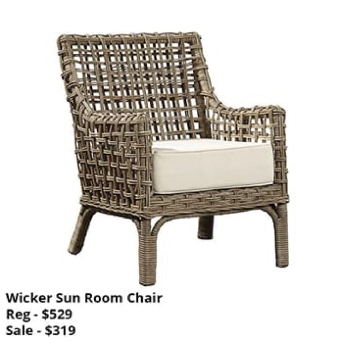 Wicker Sun Room Chair