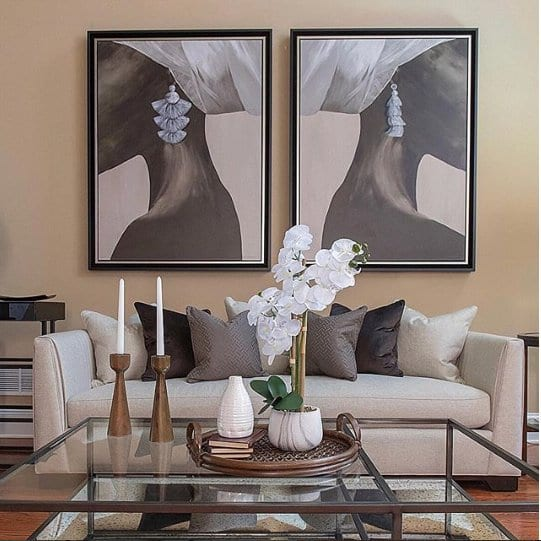 Artwork in a beautiful living room