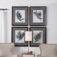 Eucalyptus Leaves Framed Prints – $375.00/set of 4